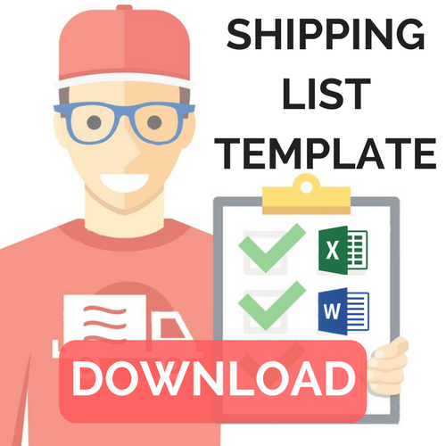shipping packing list template
