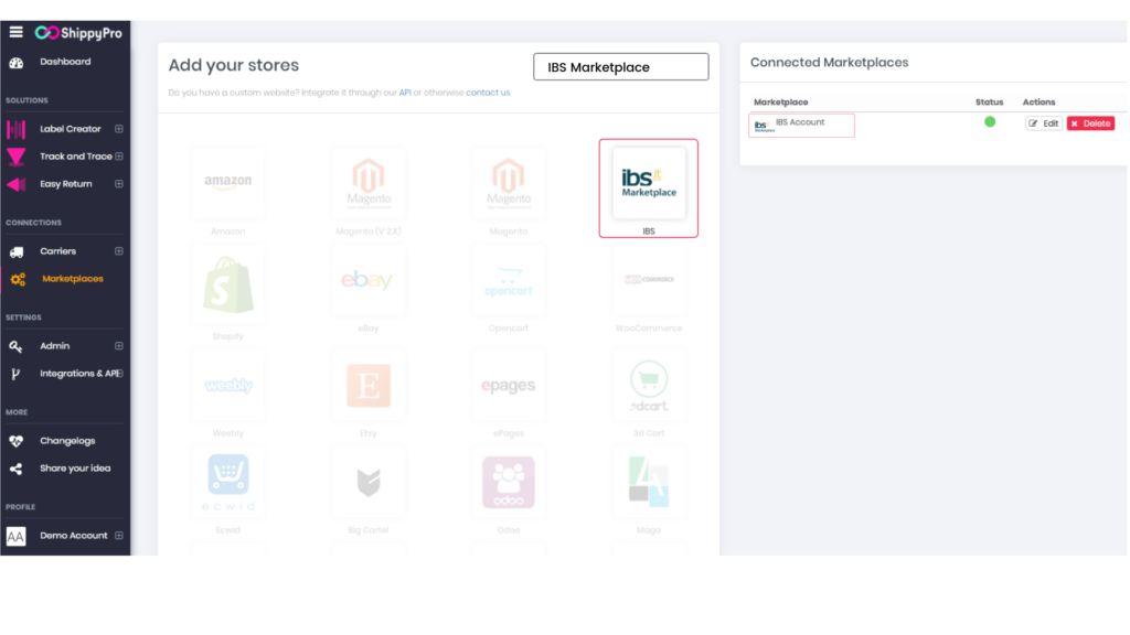 ShippyPro platform: How to add your stores, demonstration.