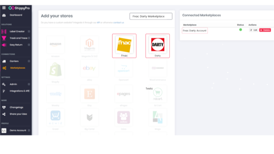 ShippyPro Platform: add all your stores in one click
