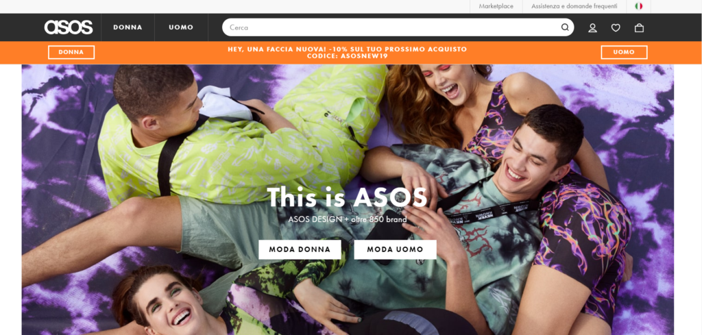 Top 10 Marketplaces in Italy: Asos