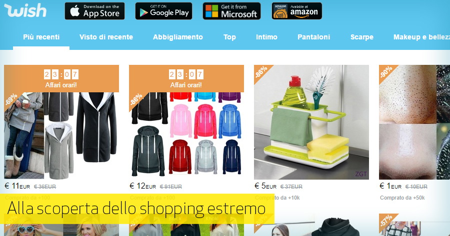 Sell online in Italy: Wish