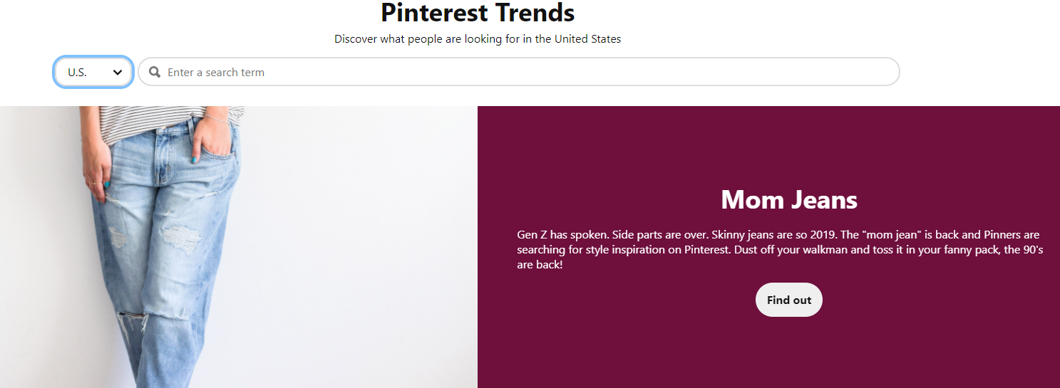 Pinterest search trends