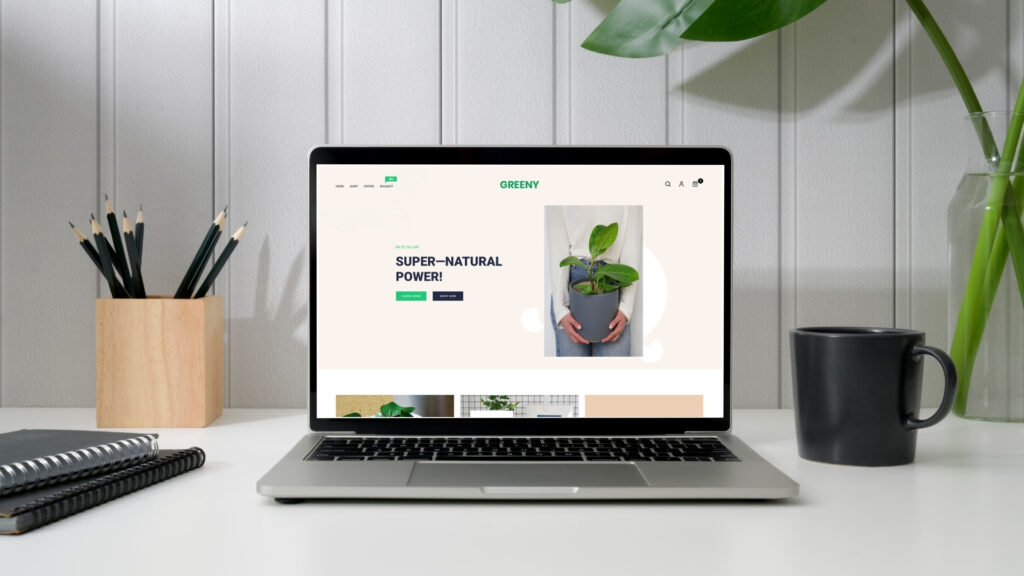 Create your e–commerce to sell plants online